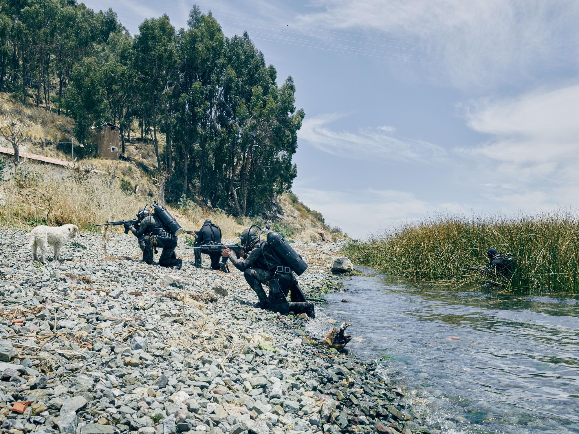 Bolivian Navy Scuba Divers