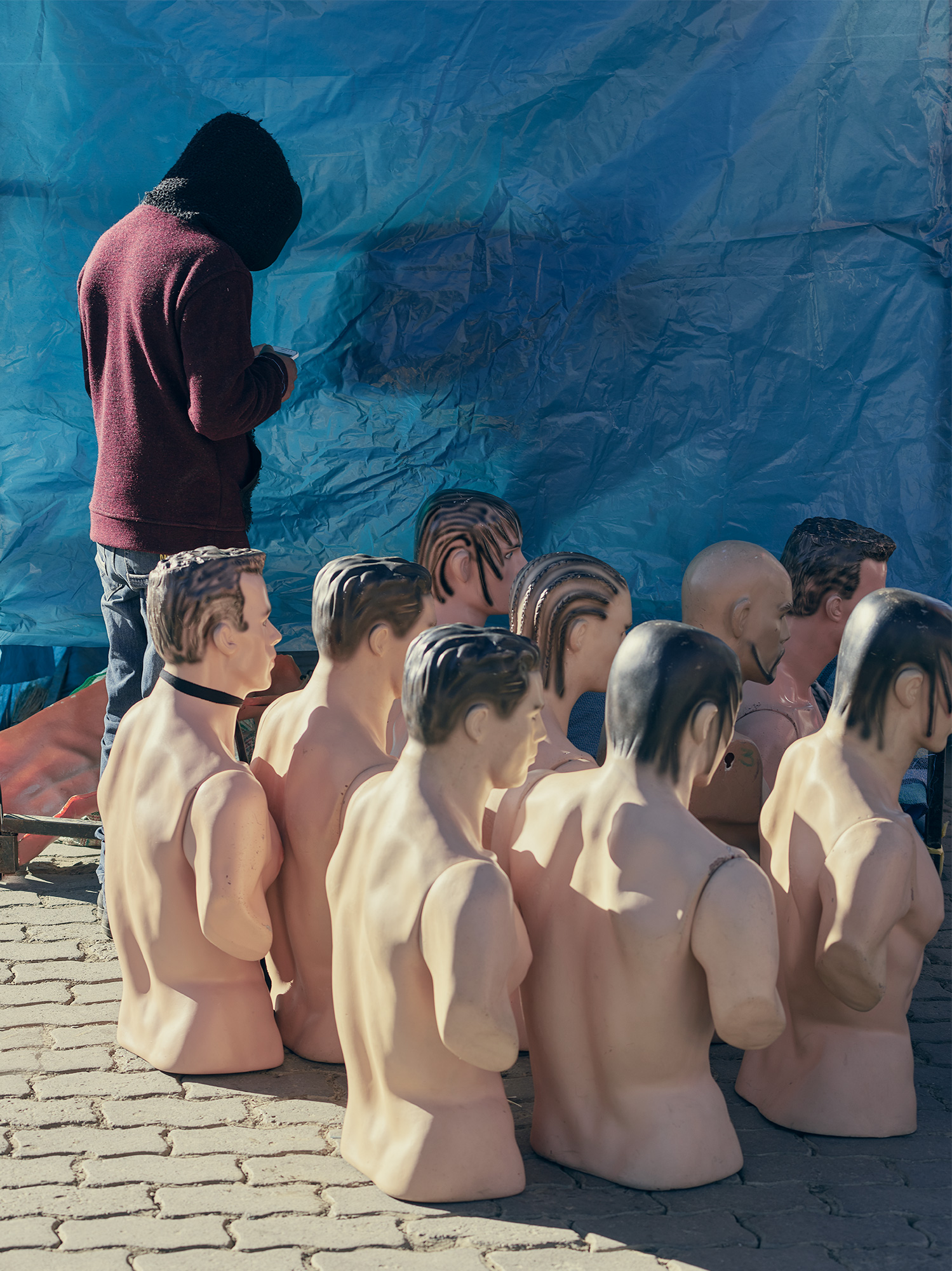 Man and mannequins in Bolivia